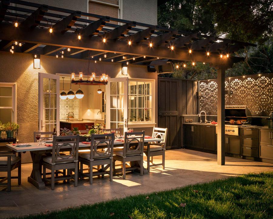 Outdoor space top design features in Naples FL home