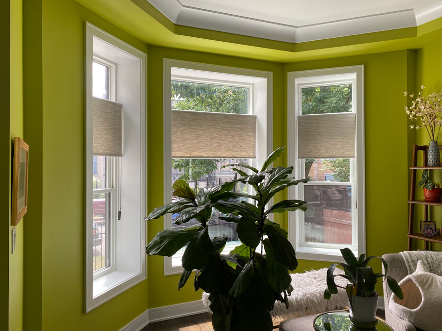 bay window with inside mount shades in Naples Fl