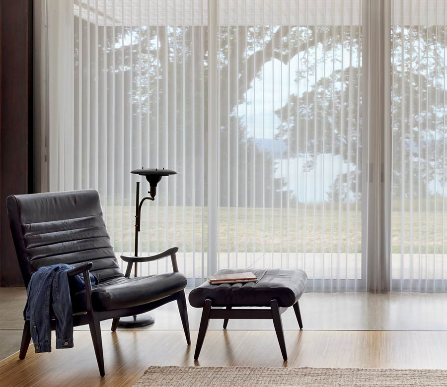 best window treatments for large windows vertical shades Fort Myers 33908