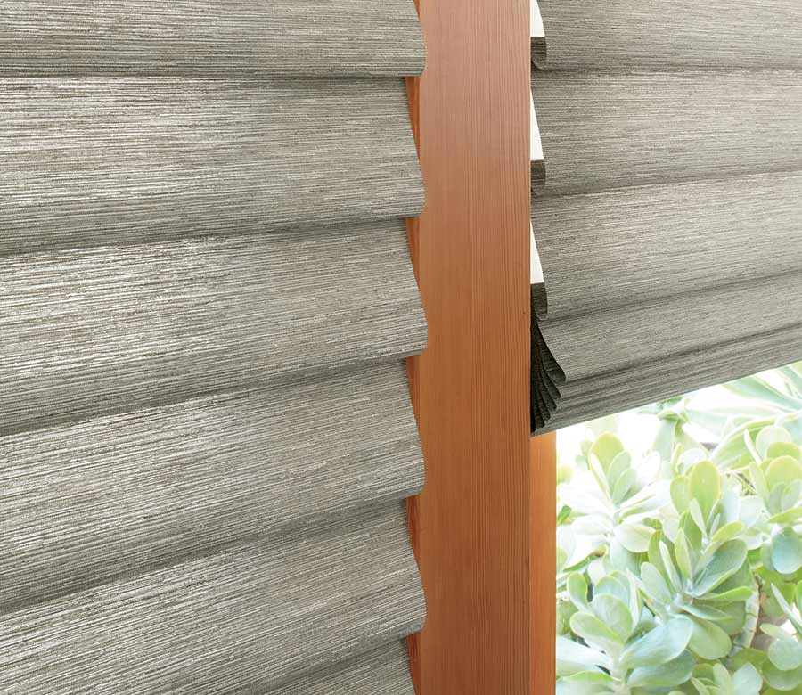 fabric detail of roman shades