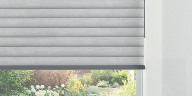 gray shade with wand motorization system in Fort Myers, FL